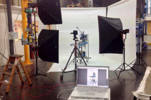Photo en déplacement chez notre client Technibag. Déplacement du studio photo